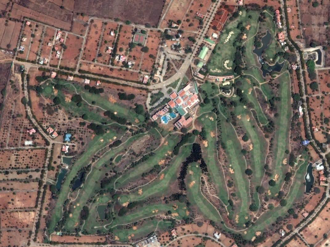 Course layout - Eagleton Golf course (Source - golfdesigns)