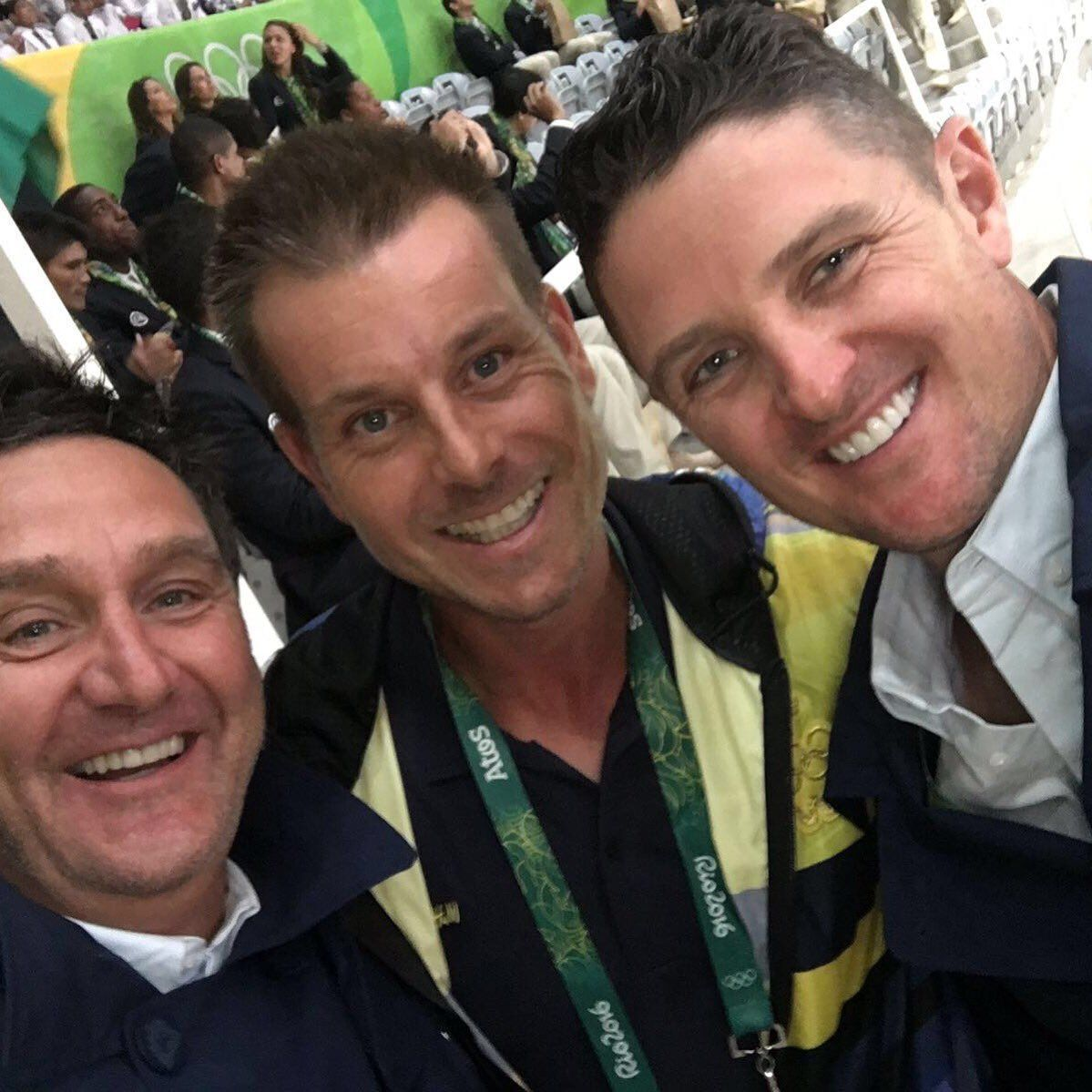 Henrik Stenson (middle) and Justin Rose (right).