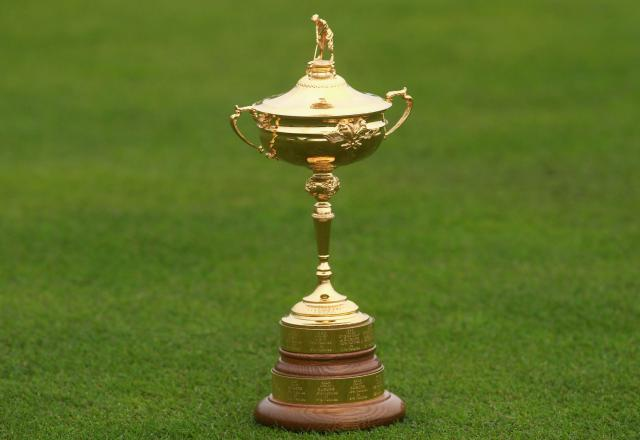 The Ryder cup trophy.