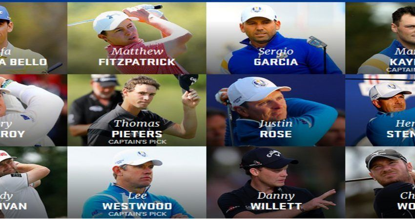 The Ryder Cup 2016: a closer look at the European team