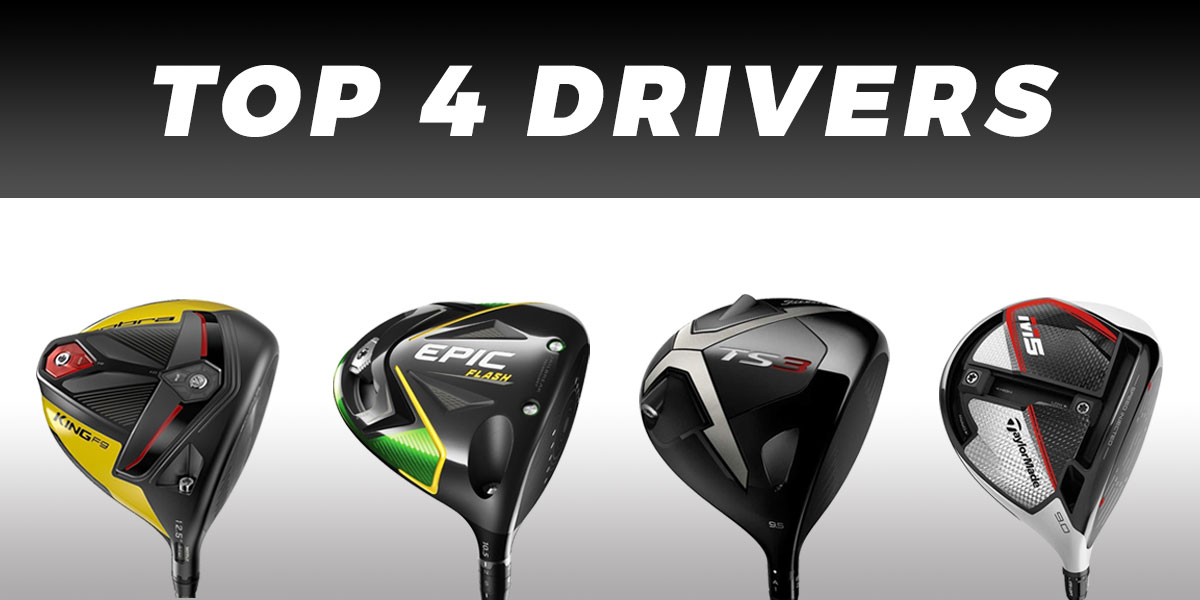 Top four drivers used on the PGA Tour