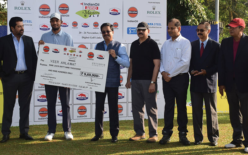 Veer Ahlawat wins his maiden PGTI title at the IOSM 2019